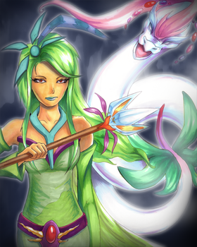 Rydia and the Mist Dragon by sushiekat