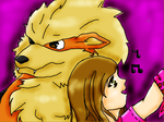 Arcanine_Trainer by ThePinkRabbits