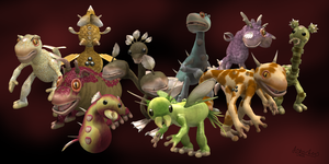 My SPORE creatures 2 by Jupiter-SG