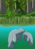Manatees of Hell Creek by DaBrandonSphere