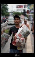 Newspaper Boy by WSmieszek