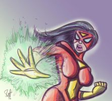 Spider-Woman. by scootah91