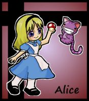 Chibi alice and Cheshire Cat by ikklesammy