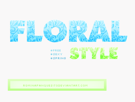 Floral style | ASL Download. by Romina-panquesito
