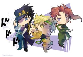 Jojo chibi bizarre adventure by Charln