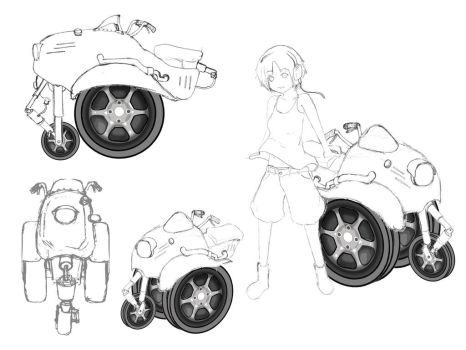 Fictional motorcycle by migiris