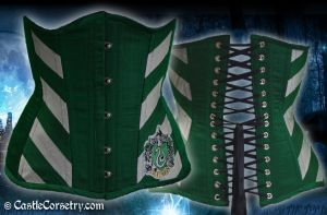 Slytherin Corset by CastleCorsetry