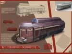 Futuristic Diesel Locomotive by spidermc