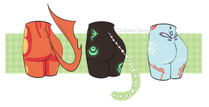 mystery butts -OPEN- by thehatter-adopts