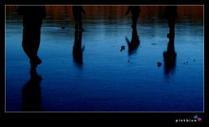 footsteps on ice by pinkblue