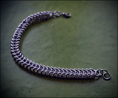 Silver boxchain bracelet by Grall19