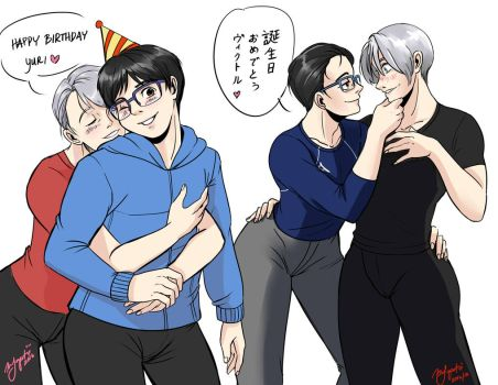 Yuri on Ice: Happy (belated) birthday! by Rice-Lily