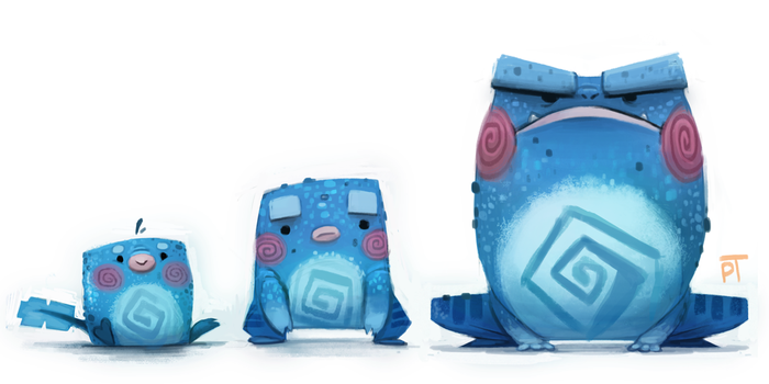 DAY 469. Kanto 060 - 061 - 062 by Cryptid-Creations