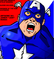 Captain America Colored by J-Mace