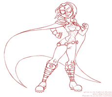 Knickers22 Commission: ReImagined Raven Pose 2 WIP by Little-Katydid