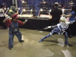 Mario vs Sheik Mock Battle by Lionofdemise