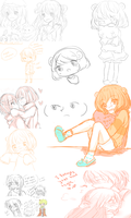 Old Sketches that I never posted by maeeru