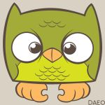 Green Owl by Daeo