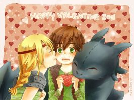 HTTYD Happy Valentine by Kadeart0