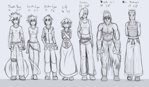 The sketchy crew by Matt-Flame