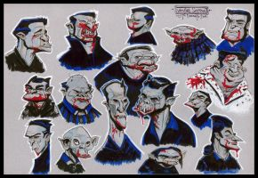 Vampire Head Sketches 02 by Cre8tivemarks