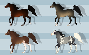 Horse adopts (OPEN) 1/4 by AreionsHalo