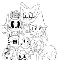 Commission: Halloween Theme by SmilehKitteh