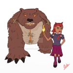 Annie And Tibbers flat colors by Stroke1986