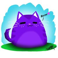Purple kitty cat by PerryPickny