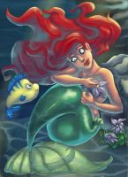 Ariel - Ocean Flower by SnowFright