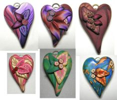 Polymer Clay Hearts by eerok1955