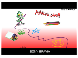 Sony Bravia Poster - Pencils by simayiboy