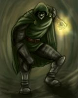 Dr Doom 1 hour sketch by Trance-Sephigoth