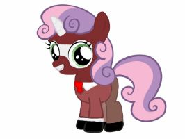 Sweetie belle as the Spy from team fortress 2 by Ripped-ntripps