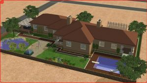 Sims 2 family home by RamboRocky