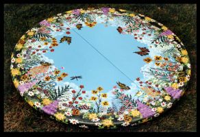 Floral Meadow Table by ReincarnationsDotCom