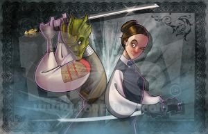 Vastra and Jenny by jonpinto