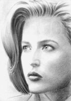 Gillian Anderson mini-portrait by whu-wei