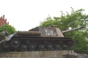 ISU 122 side view by SPIDIvonMARDER