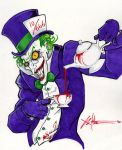 Joker as the Mad Hatter by ChrisOzFulton