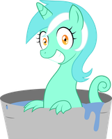Go Away Sea Pony Lyra Vectored by SpaceKingofSpace