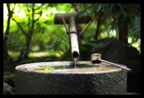 Japanese Water Fountain by c-lue
