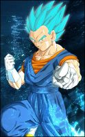 Inverted Super Saiyan Vegetto by The-Potara-Fusion