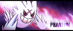 Custom mega-Gengar sig banner by Sworn-Metalhead