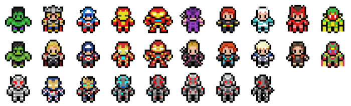 Avengers: Age of Ultron Sprites by Hazard-House
