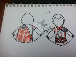 Assassin Creed Poncho Sketch by snowtigra
