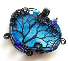 Twilit Forest Pendant no. 12 by sojourncuriosities