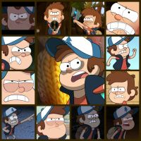 Angry Dipper collage by Darkmegafan01