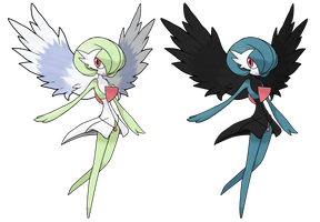 Mega Gardevoir my version and Dark by Deko-kun