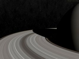 Closeup of Saturns Rings by swarfega